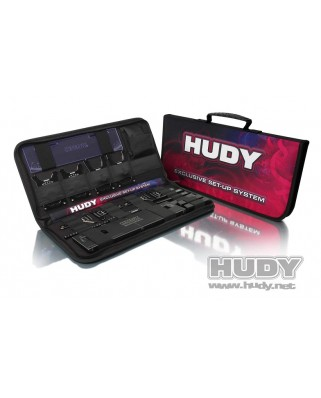 Hudy - Complete Set of Set-up Tools + Carrying Bag - For 1/8 On-road Cars