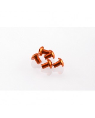 Alloy Hex Socket Button Head Screw M3x4 [Orange] ( 5 pcs)