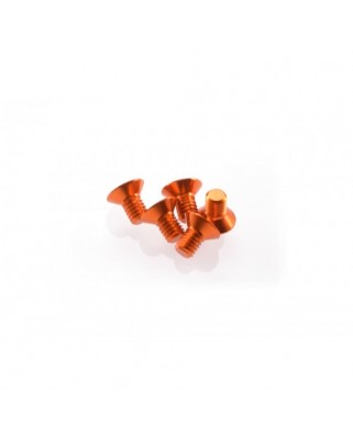 Alloy Hex Socket Flat Head Screw M3x5 [Orange] ( 5 pcs)