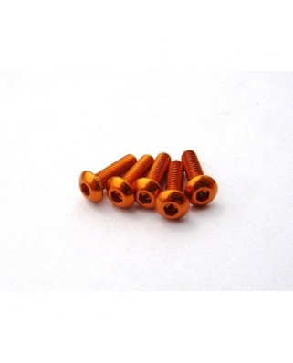 Alloy Hex Socket Button Head Screw M3x8 [Orange] ( 5 pcs)