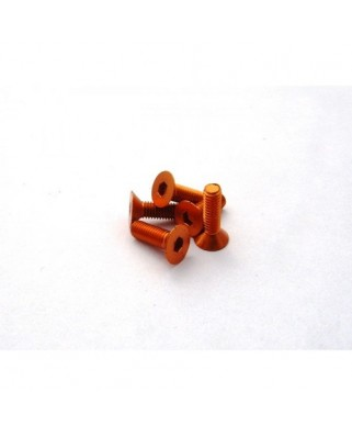 Alloy Hex Socket Flat Head Screw M3x12 [Orange] ( 5 pcs)