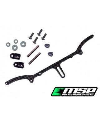 MSE supporto carrozzeria posteriore CARBONIO MRX6R-X